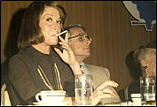 Mary Tyler Moore - candid with Grant Tinker - luncheon honoring Sheldon Leonard 15th March 1974..jpg